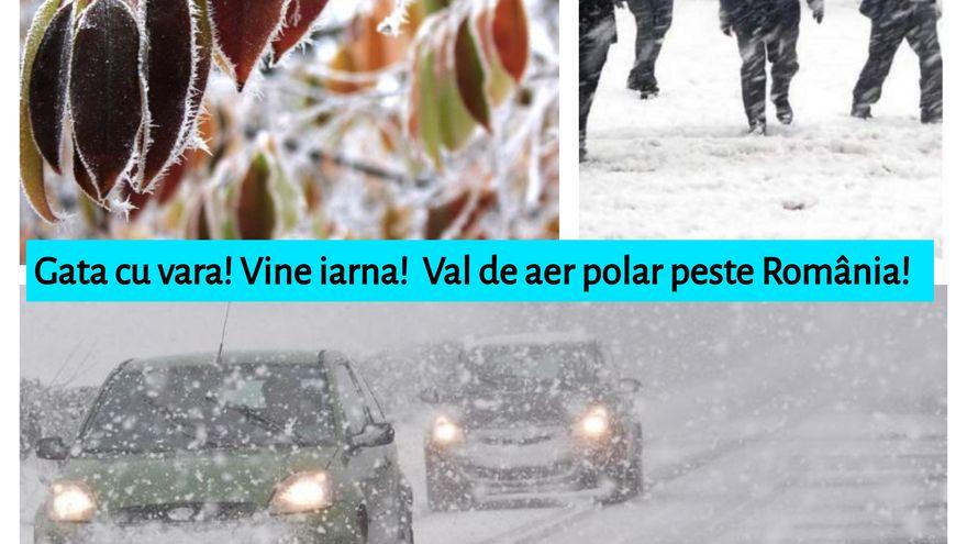 Vine GERUL! Val de aer polar peste România! Scăderi extreme de temperatură! Când va ajunge frigul în România