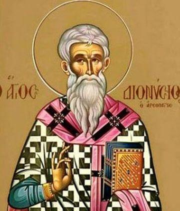Calendar ortodox 3 Octombrie 2019. Sfântul Dionisie Areopagitul