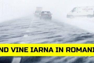 Anuntul meteorologilor: cand vine iarna in Romania! Cand cade prima ninsoare si cat de frig va fi