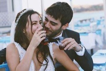 """Berkay Hardal, Murat din serialul """"Mireasa din Istanbul"""", nunta fastuoasa cu frumoasa actrita Dilan Telkok! Iata ce tinute speciale au ales cei doi miri!"""