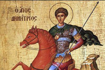 Calendar ortodox 26 octombrie  - Sfântul Dumitru. Ce sa nu faci ca sa nu-ti mearga rau