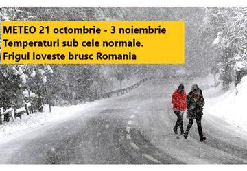 Prognoza meteo pe doua saptamani: vine frigul. Se anunta ninsori si inghet. Care sunt zonele afectate
