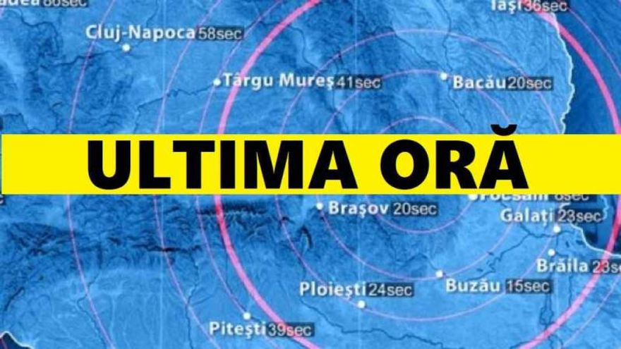Cutremur mare in Romania, marti noaptea. Ce magnitudine a avut seismul
