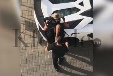 Bianca Drăgușanu, bătută în plină stradă de Alex Bodi! Imaginile momentului în showbiz