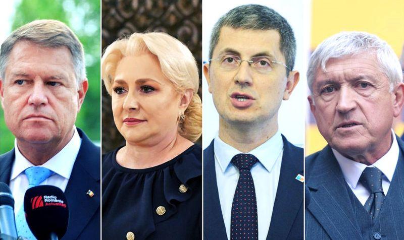 Iohannis, Dăncilă, Barna și Diaconu