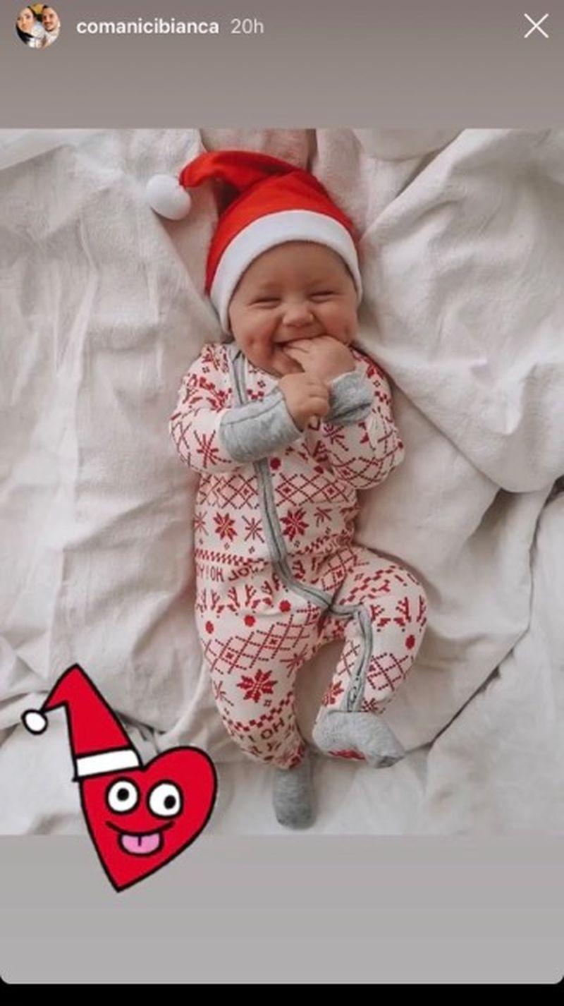 Bianca, prima FOTOGRAFIE cu bebelusul!