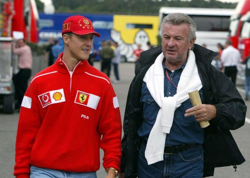 Michael Schumacher și Willi Weber