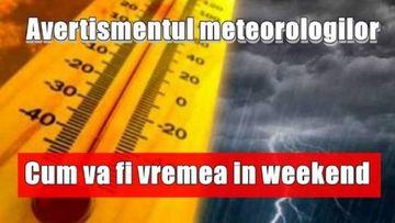 Prognoza meteo. Vremea în weekend 15 - 17 noiembrie
