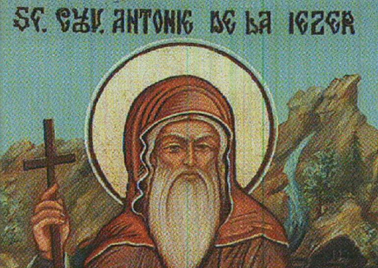 Sfântul Antonie - Cruce albastră în calendar pe 23 noiembrie