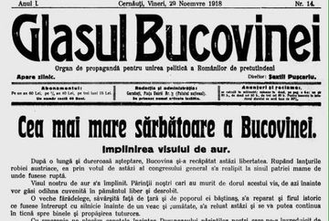 28 noiembrie 1918, unirea Bucovinei cu Romania. Cine sunt cei carora li se datoreaza Unirea