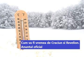 Prognoza meteo decembrie 2019. ANM anunta cum va fi vremea de Craciun si Revelion