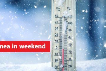 Vremea în weekend 6 - 8 decembrie 2019. Ce temperaturi vom avea in tara si la Bucuresti