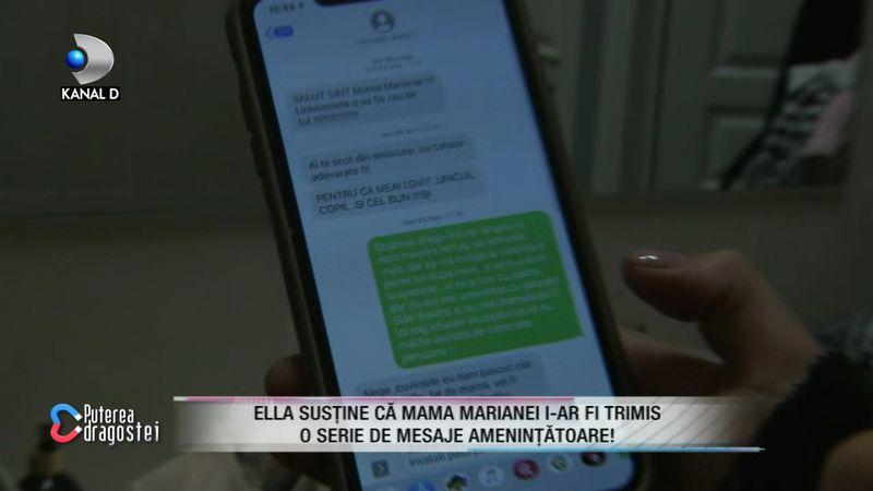 Ella a arătat mesajele de la mama Marianei