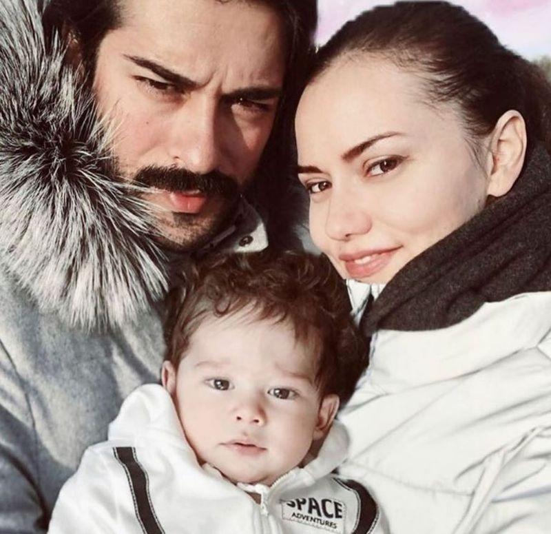 Burak Ozcivit, Fahriye Evcen si fiul lor, Karan