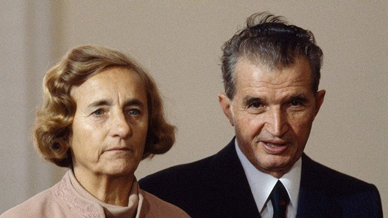 Elena Ceausescu si Nicolae Ceausescu