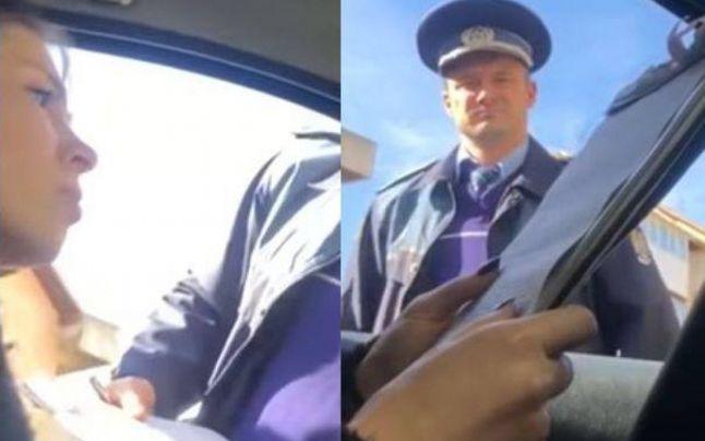 Un polițist, acuzat că s-a folosit de funcție pentru a-și amenda fosta soție! Imagini VIDEO uluitoare