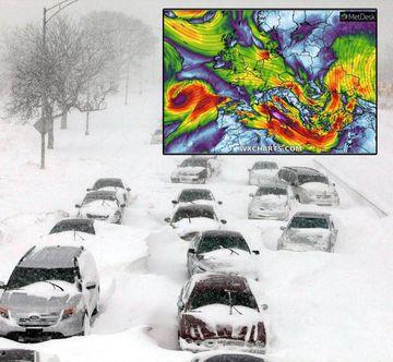ANM, în alertă! Un ciclon gigantic intra în scurt timp în România!