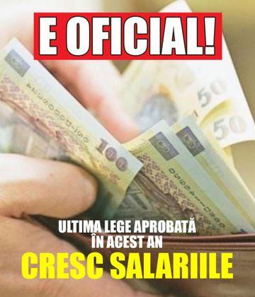 Guvernul DUBLEAZĂ salariile de la 1 ianuarie! Ultima lege aprobată în acest an, are efect de la 1 ianuarie 2020
