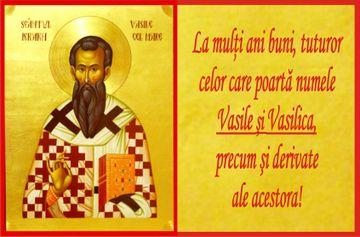 Calendar ortodox 1 ianuarie. La multi ani pentru cei care poarta numele Sfantului Vasile