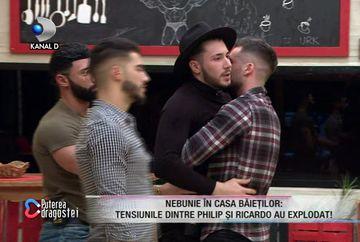 Noi scene de violență în casă: Philip a sărit să îl bată pe Ricardo! Iancu i s-a alăturat ulterior! Ce a urmat