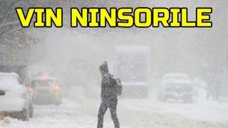 Cod galben de lapoviţă, ninsori şi viscol! Harta zonelor vizate