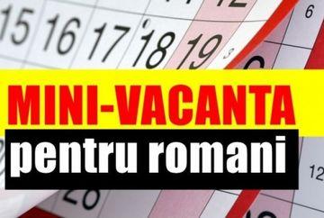Zile libere 2020! Veste uriasa pentru romani: urmeaza o noua minivacanta in ianuarie 2020