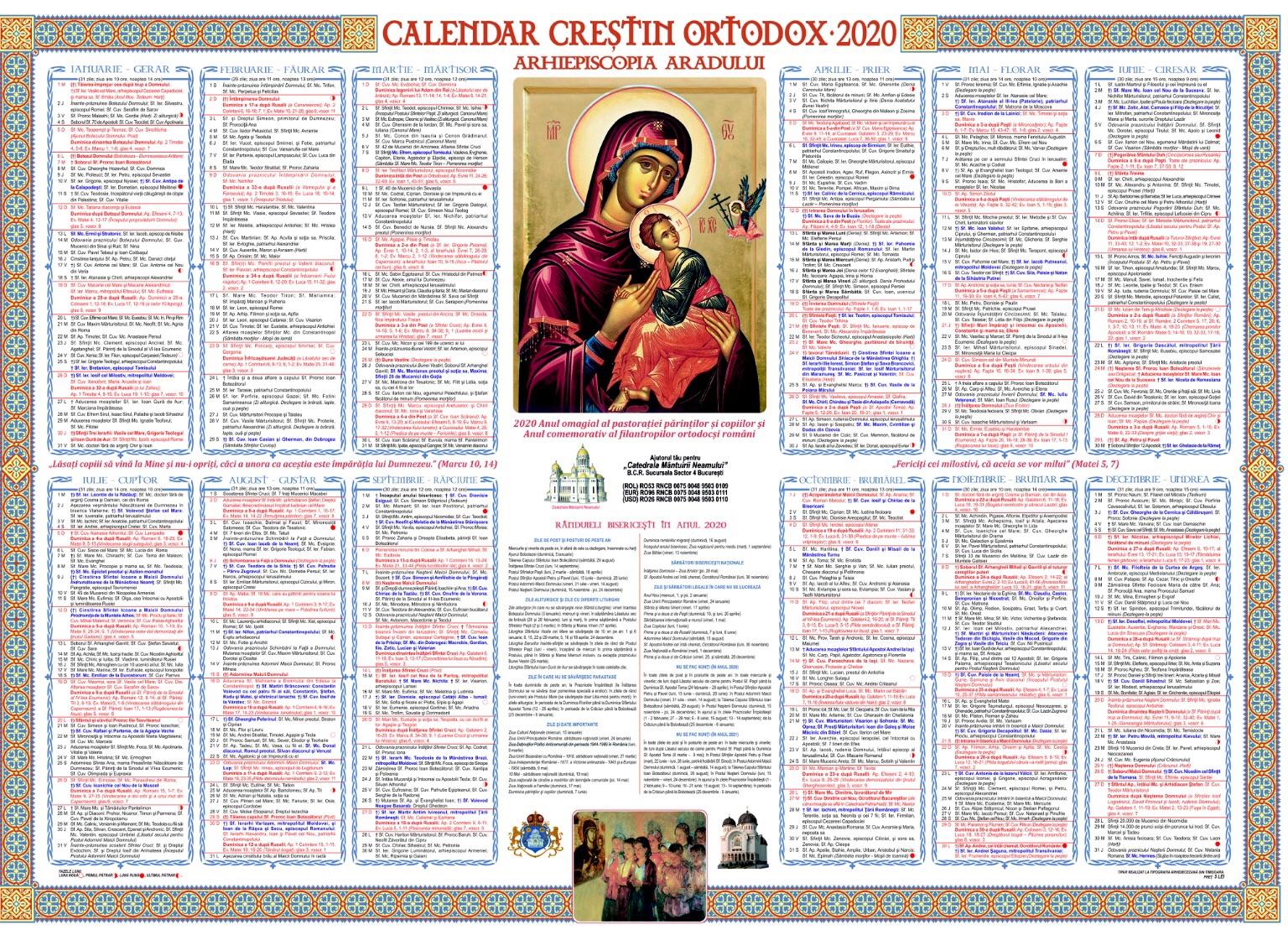 Calendar creștin ortodox 2020. Sărbătoare mare pe data de 8 ianuarie
