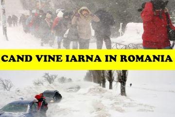 Cand vin ninsorile in Romania? Anunt de ultima ora de la meteorologi