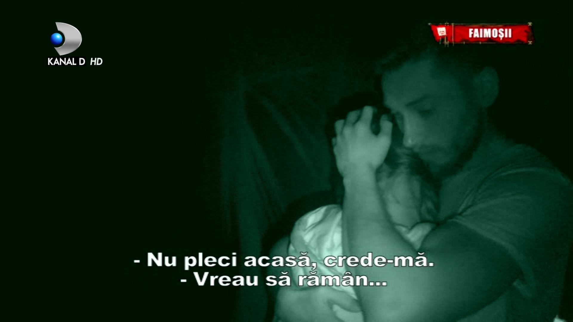 Imbratisari fara perdea intre Gratiela Duban si un baschetbalist celebru, la ''Survivor Romania''! Cum a consolat-o in intuneric!