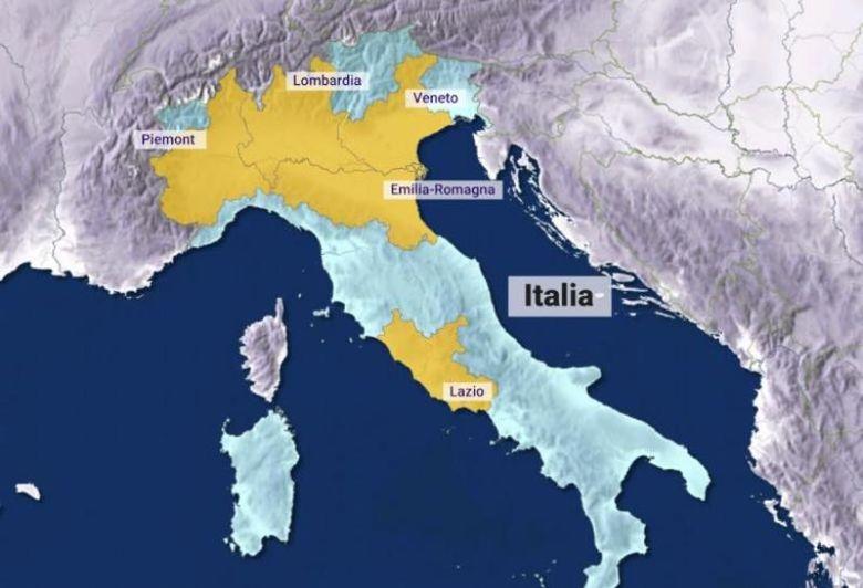 Cinci decese in Italia. Coronavirus a infectat deja peste 200 de persoane