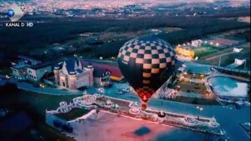 """Andreea si George admira tinuturile de poveste ale Clujului, dintr-un balon cu aer cald! Descopera frumusetea unica a obiectivelor turistice clujene, sambata, intr-o noua editie """"ROventura, de la ora 15:00, la Kanal D"""