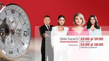 Coronavirus Romania: informatii verificate, surse oficiale si decizii de ultima ora! Ramai la curent cu tot ce este important! Urmareste Stirile Kanal D de luni pana vineri de la 12:00 si 19:00, iar in weekend de la 12:00 si 18:00