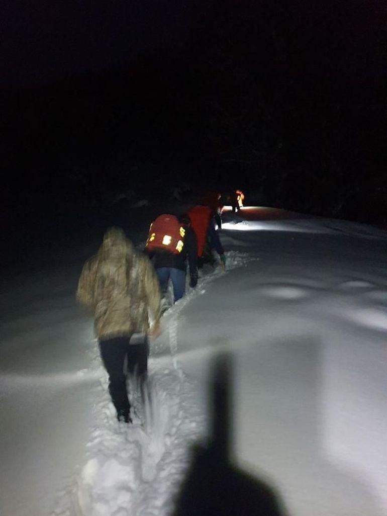 Bătrână decedată pe munte, în zăpadă