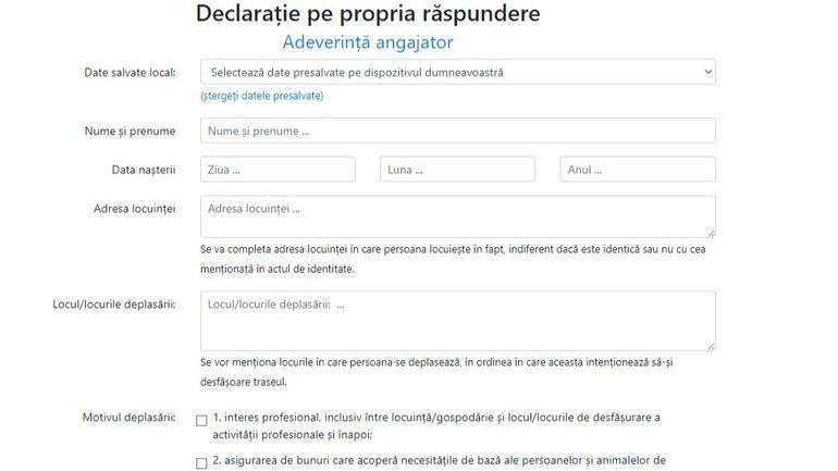 Declaratie pe propria raspundere online: care este site-ul oficial