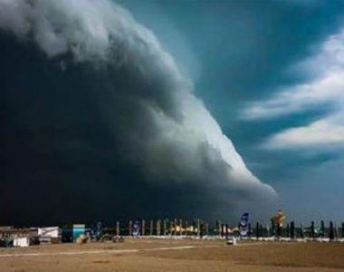 Norul Shelf a acoperit cerul în staţiunea Mamaia. Un fenomen spectaculos. Imaginile...