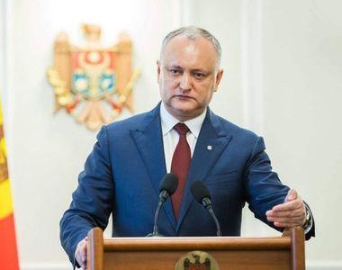 Republica Moldova. Igor Dodon anunță dizolvarea parlamentului