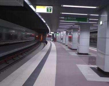 Imagini incredibile cu staţia de metrou Romancierilor, de pe magistrala Drumul Taberei...