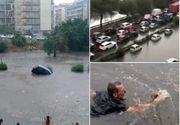 Imagini șocante în Palermo. Mașini luate de ape și morți, după cea mai puternică ploaie din istoria orașului
