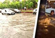 VIDEO| Rupere de nori în Capitală: Sistemul putred de canalizare nu face față unor astfel de ploi violente