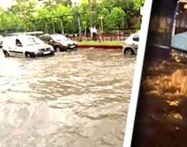 VIDEO| Rupere de nori în Capitală: Sistemul putred de canalizare nu face față unor...