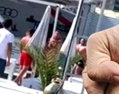 VIDEO| Scandal la o terasă de pe litoral: Clienții s-au luat la bătaie. A fost nevoie...