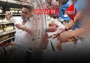 VIDEO - Chef grotesc într-un hypermarket din Capitală: 10 persoane au încins o masă câmpenească la raionul de carne