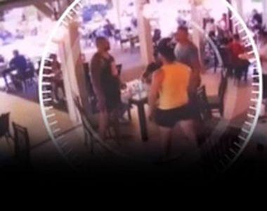 VIDEO - Bătaie la o terasă din Argeș. Totul a fost surprins de camerele de supraveghere