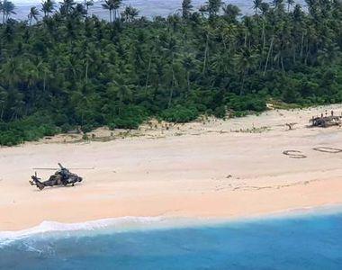 Au fost salvați în ultima clipă de pe o insulă pustie din Pacific. Un detaliu văzut din...