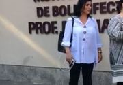 Adriana Bahmuțeanu, fără mască de protecție la Spitalul de Boli Infecțioase din Capitală