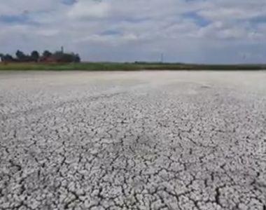 Imagini inedite: Un lac din România a secat în totalitate