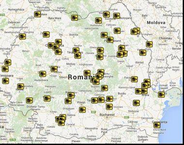 Camere rovinietă România. Unde sunt amplasate fiecare din cele 86 de camere. Harta...