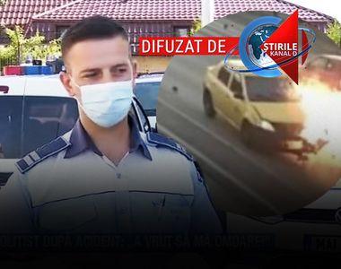 """VIDEO   Poliţist, după accident: """"A vrut să mă omoare"""""""