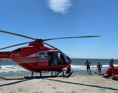 Alertă pe plaja Corbu! Un bărbat a murit înecat - VIDEO