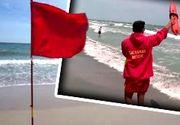 VIDEO | Steag roşu în sudul litoralului